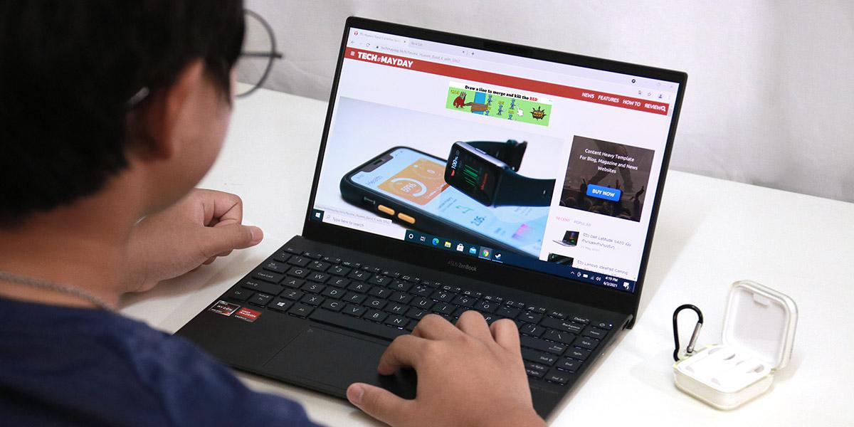 รีวิว Asus Zenbook 13 UM325 ขุมพลังตัวท็อป Ryzen 7 5800U